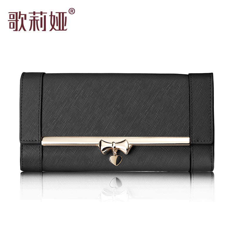 Goelia  casual street women's genuine leather handbag day clutch wallet sweet women's handbag   clutch purses money clip