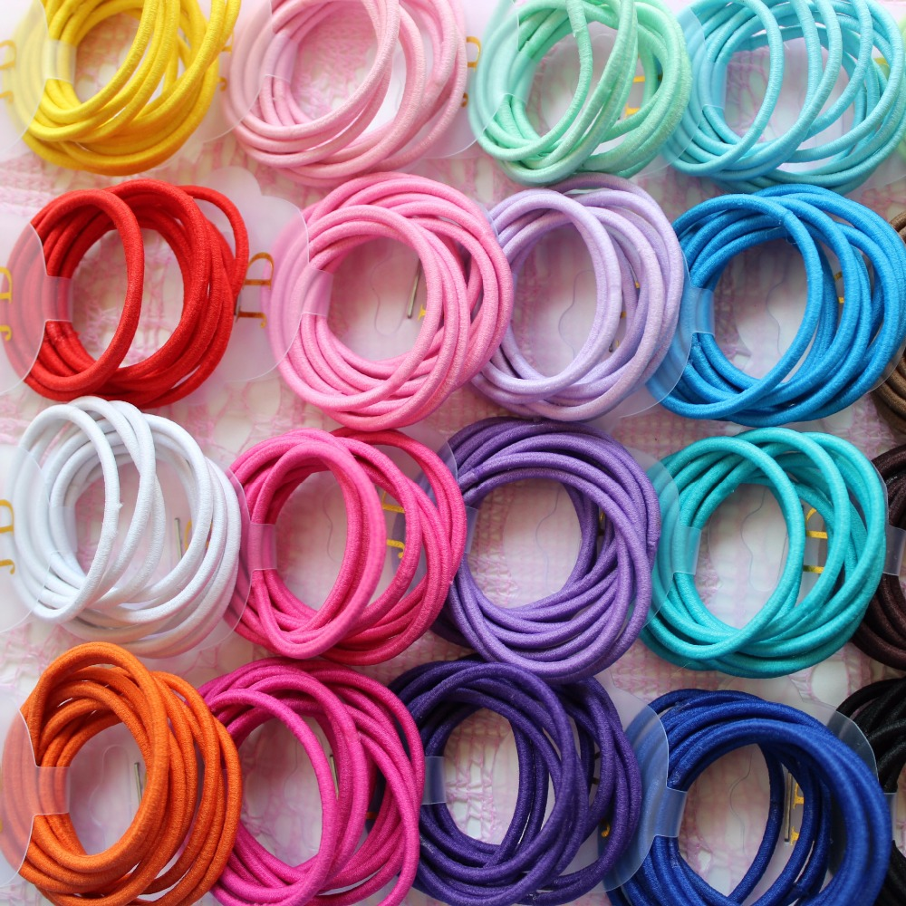 Free Shipping 100 Pcs Kids Girl Lady Elastic Rubber Hair Bands Ponytail Holder Head Rope Ties(China (Mainland))