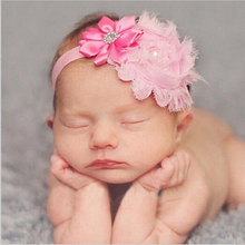 1PCS baby Flower Head bands newborn Crystal Tiara Children's hair band Crown Hair Accessory Photography Props w–110
