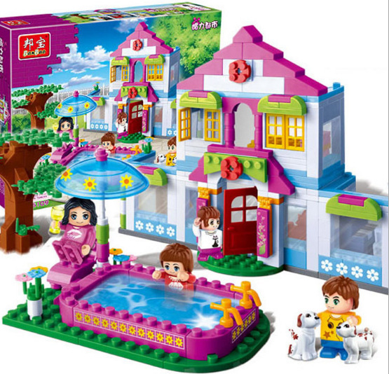 2016 new original banbao princess girl 39 s house building blocks sets 405pcs lot diy bricks. Black Bedroom Furniture Sets. Home Design Ideas