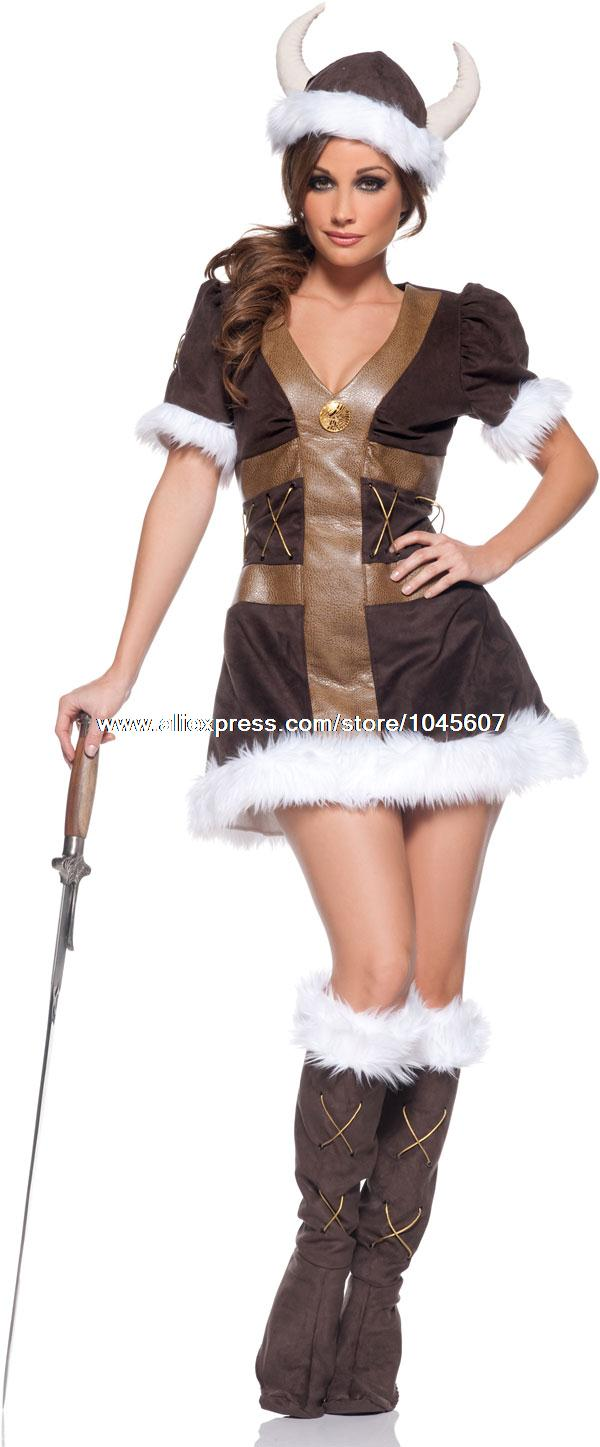 Viking Party Costumes Viking Princess Adult Costume
