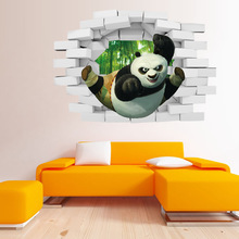 Buy Kung Fu Panda 3d Stereo Wall Decorative Wall Sticker Wall Sticker Childrens Room Kindergarten Waterproof Removable 50*70cm for $3.13 in AliExpress store