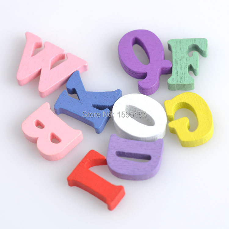 100pcs 16mm Mixed Letter&alphabet wooden Scrapbooking Carft for decoration Diy 141229-6(China (Mainland))