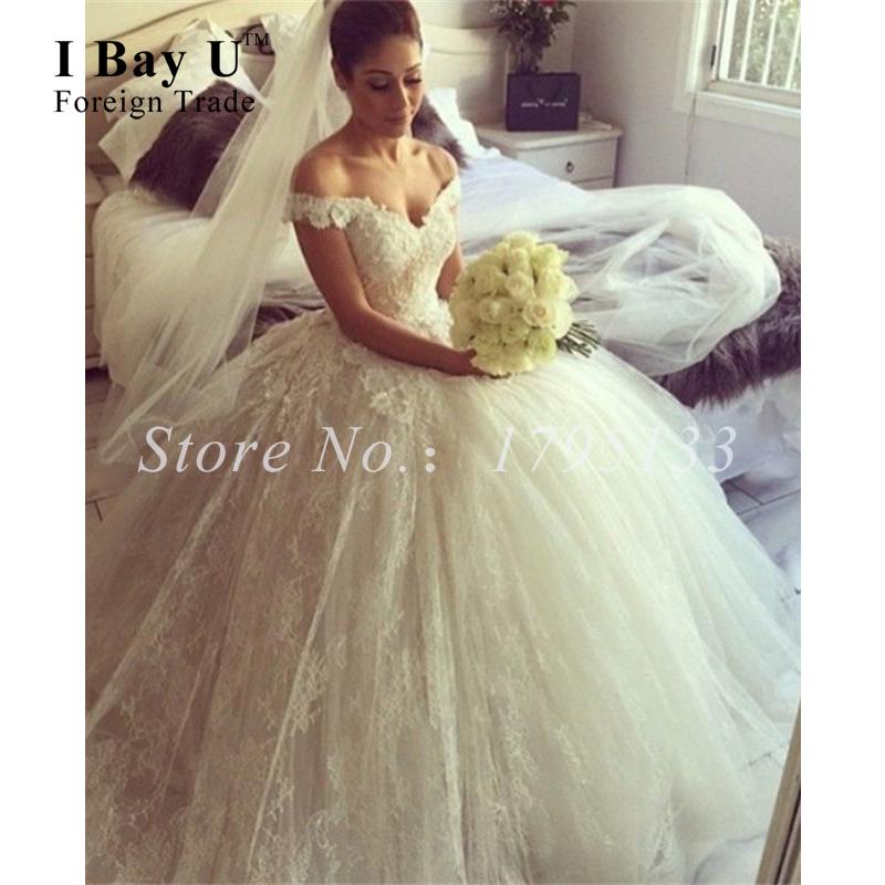 Italy Design Off White Blush Wedding Dress 2016 Elegant Tulle Lace Wedding Dresses Cap Sleeves Bridal Ball Gowns Oriental Dress(China (Mainland))