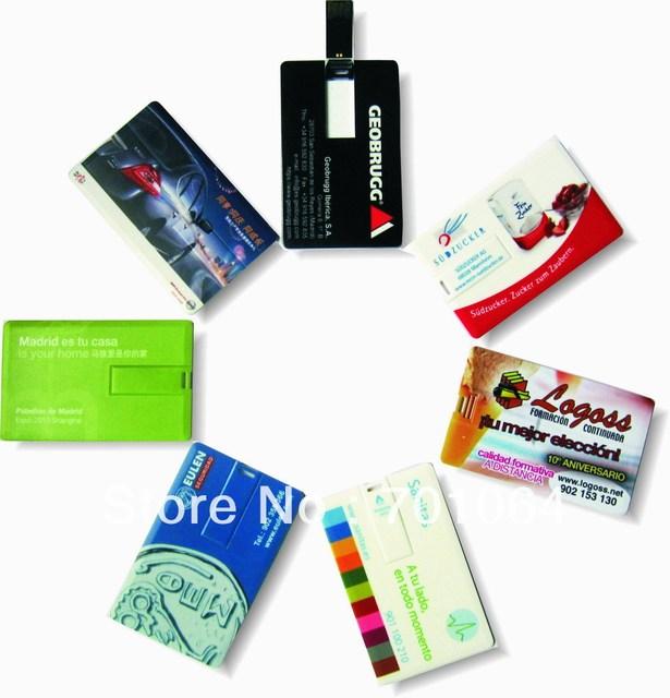 Credit card  usb flash drive 1GB 2GB 4GB 8GB 16GB 32GB High speed  Free shipping