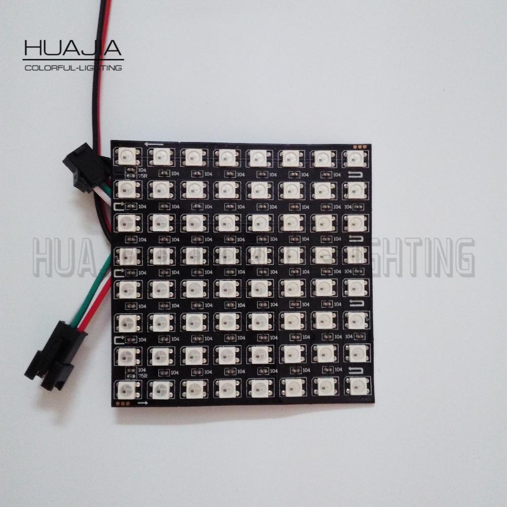 1PCS 8*8 WS2812B 64 Pixels LED Programmed Panel Screen Digital Flexible Individually Addressable DC5V Full Color Display(Hong Kong)