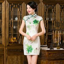 Buy Noble Chinese Women Satin Mini Cheongsam Hot Sale Traditional Style Qipao Dress Vestido Size S M L XL XXL 275993 for $32.00 in AliExpress store