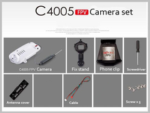 Mjx R/C Technic C4005 FPV camera set 30W 2.4G camera for Helicopter T10 T55 T57 T64