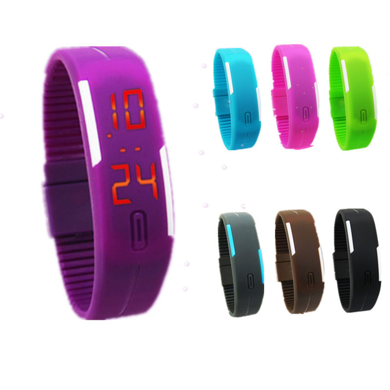 New Arrival! Fashion Sport LED Watches Candy Color Silicone Rubber Touch Screen Digital Watches, Bracelet Wristwatch(China (Mainland))