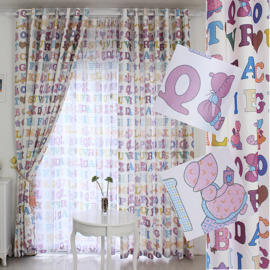 Здесь можно купить  Curtain curtains finished product child finished products customize curtain fabric cartoon letter  Дом и Сад