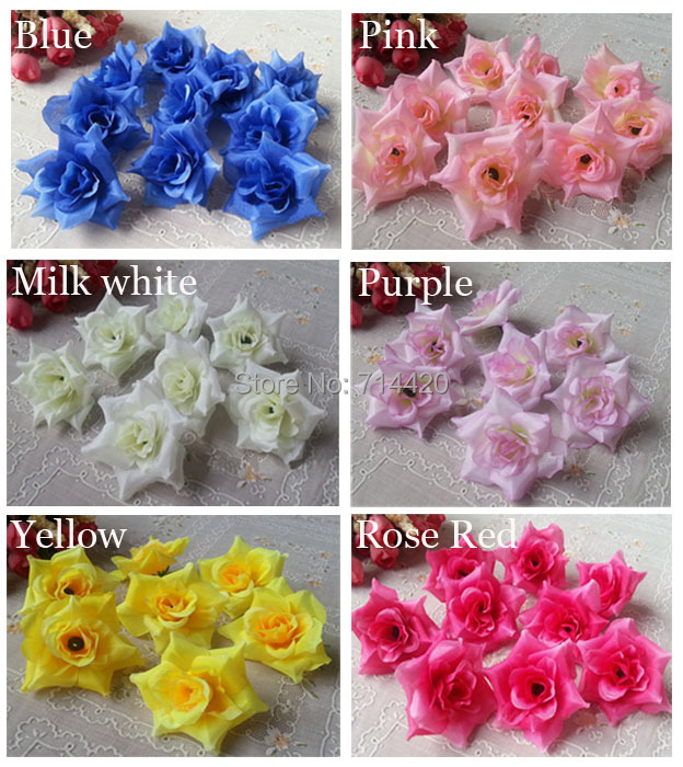 5 Artificial flower Silk rose head Simulation flowers DIY Foy Wedding Party Home decoration - Life&Home store