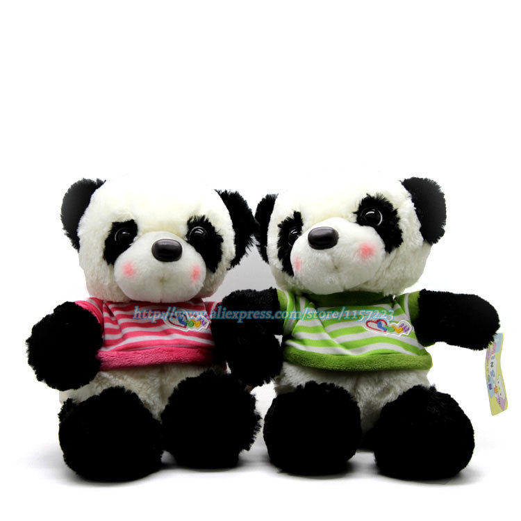 Wholesale 30cm China Giant Panda Bear Soft Plush Toys Cute Cartoon Stuffed Animal Toy Doll Chinese Gift For Children Baby Girl(China (Mainland))