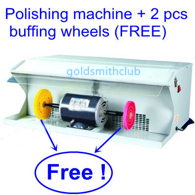 "Jewelry Tools and Equipment Polishing Machine with dust collector with 2 Free 6"" buffing wheels, jewelry Polishing machine(China (Mainland))"