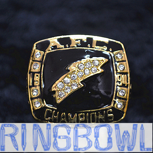 San Diego Chargers Championships: SAN DIEGO CHARGERS SUPER BOWL RING 1994 CHAMPIONSHIP RING