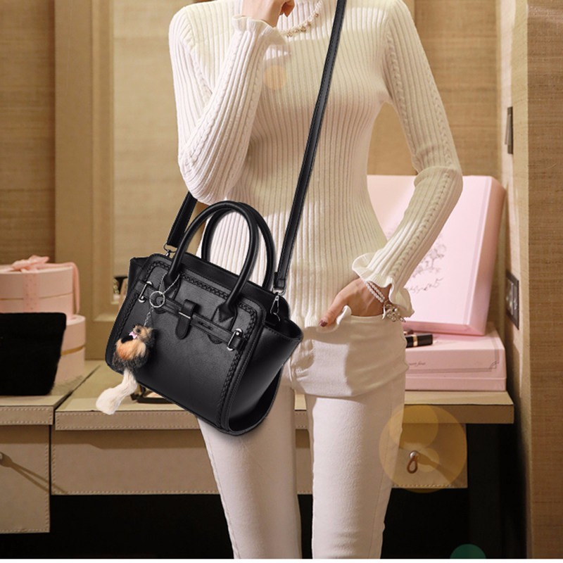 Designer Knitting Edges Women Fashion Handbag Elegant Crossbody Bag Blet Buckle Ladies Stylish PU Leather Ladylike Shoulder Bag