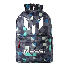 Messi Logo Teenagers School Book Backpacks Soccer Bag Football Shoulder Bags Sports Travel Bag Gift For Kids