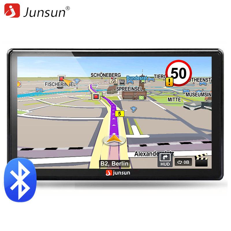 Junsun 7 inch HD Car GPS Navigation FM Bluetooth AVIN Map Free Upgrade Navitel Europe Sat nav Truck gps navigators automobile(China (Mainland))