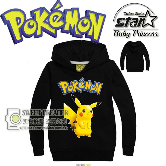 Kids Boys Hoodies font b Pokemon b font Go Clothes Children s Sweatshirts For Girl Boy