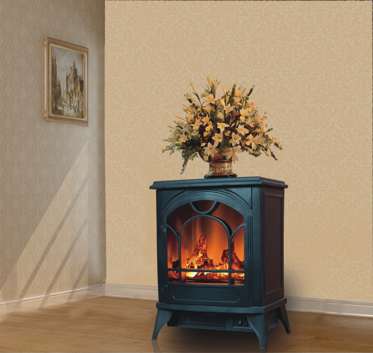 Free standing fireplace stove with manual switch Free standing fireplace
