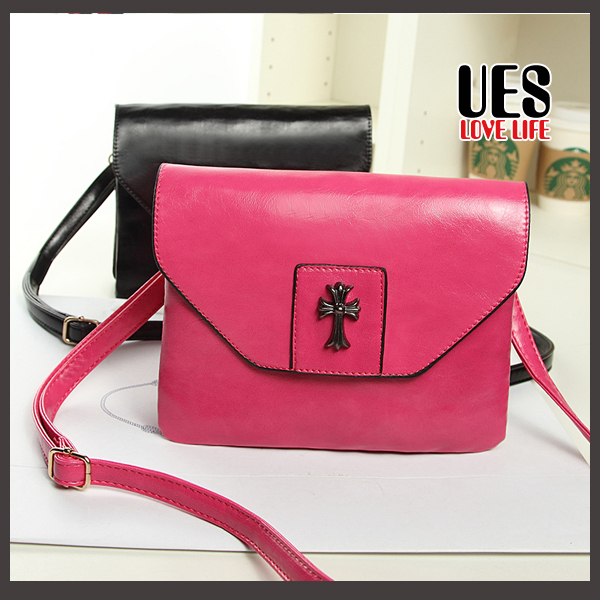 UES New Arrival Synthetic Leather Women Bags Brand Rose Bussiness Tote Handbags Cheap China Vogue Suppliers Free Shipping 2015(China (Mainland))
