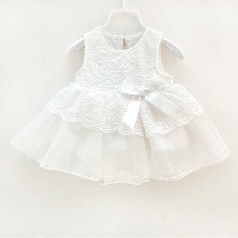 Summer Newborn Children Girl Kids Baby Pretty Bowknot Top Infant Sleeveless Party Romper Dresses Toddler Princess Girl Clothes(China (Mainland))
