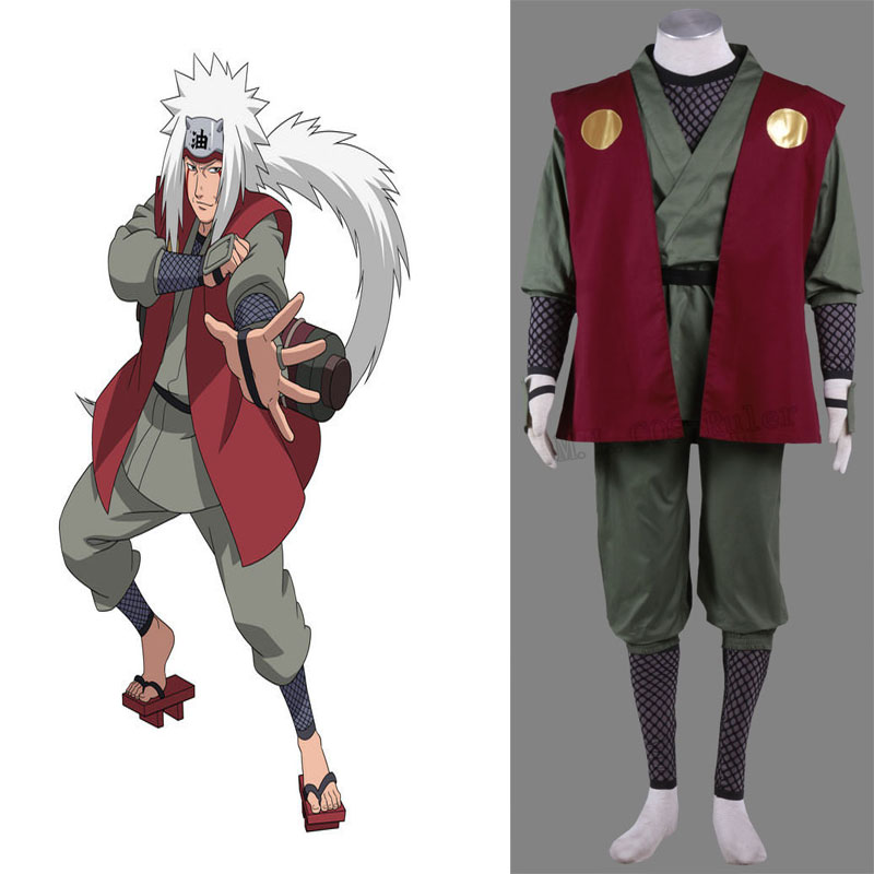 Cartoon Character Naruto Jiraiya Cosplay Anime Cosplay Costume Custom Made Customized(China (Mainland))