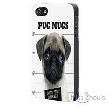 PUG MUG Dog Funny Protector back skins mobile cellphone cases for iphone 4/4s 5/5s 5c SE 6/6s plus ipod touch 4/5/6