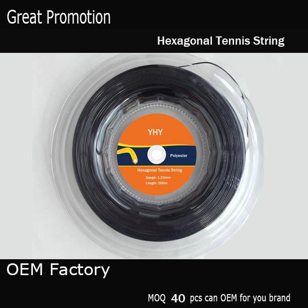 125 200M Hexagonal  tennis string brand tennis string/co-polyester  tennis string