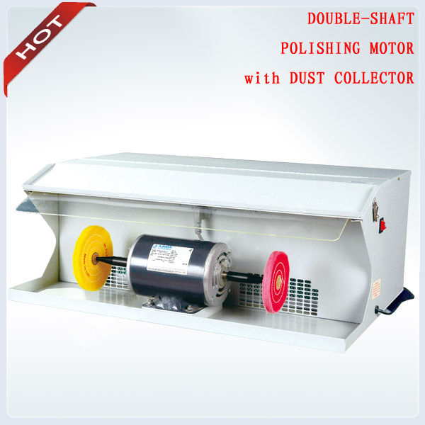 Promotion Polishing Motor with 2 pcs Buffing Free 220V 550W 1/2 HP Jewelry Polishing Machine with Dust Collector Best Price(China (Mainland))