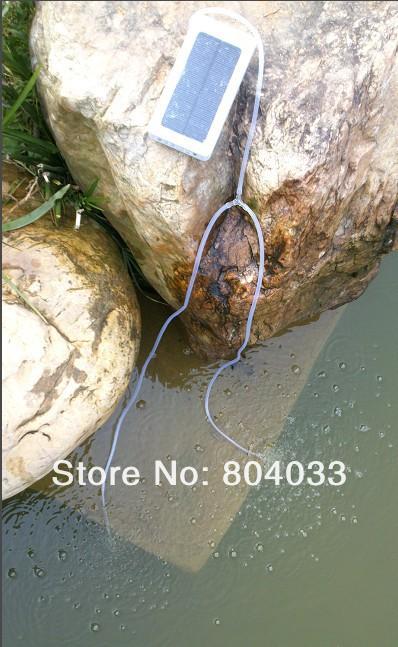 Waterproof Solar Power Panel fish tank aquarium Oxygenator aeration Air Pump Oxygen Generator USB Power Bank for iphone 4(China (Mainland))