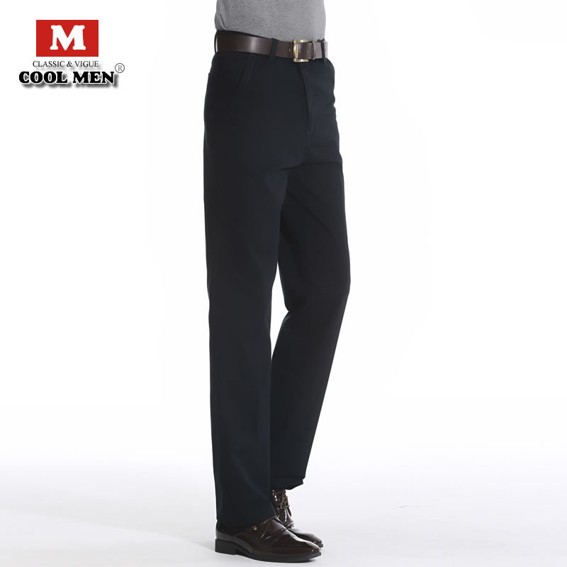 Men pants 2015 new fashion arrival men pants brand casual high waist cotton spring and summer men pants straight zipper men pant(China (Mainland))
