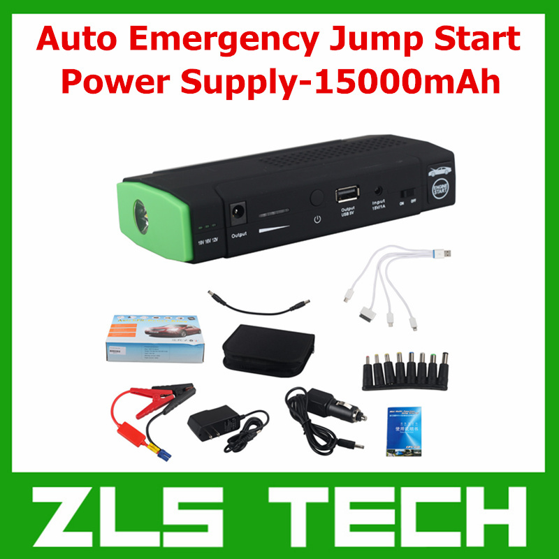 Multi-Function Auto Emergency Jump Start Power Supply-15000mAh Emergency Start Power Charger Supply For Mobile Phone/PSP/MP3/MP4(China (Mainland))