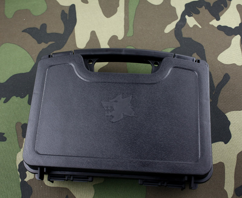 ABS Pistol Case Tactical Hard Pistol Case Gun Case Padded Foam Lining for hunting airsoft - Free shipping(China (Mainland))