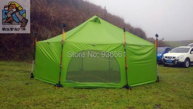 3F Gear Altun base professional silicon coating big size 4 season 8 person camping tent(China (Mainland))