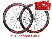 Factory sale 50mm full carbon wheelset clincher with black Novatec 271 hub black spokes black nipples carbon wheels(China (Mainland))
