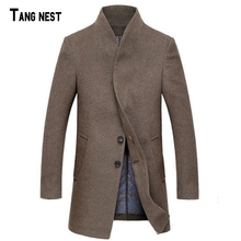 Men Wool Trench 2016 New Arrival Men Solid Thick Winter Long Trench Men Long Warm Wool Coat Masculina Casaco MWN167(China (Mainland))
