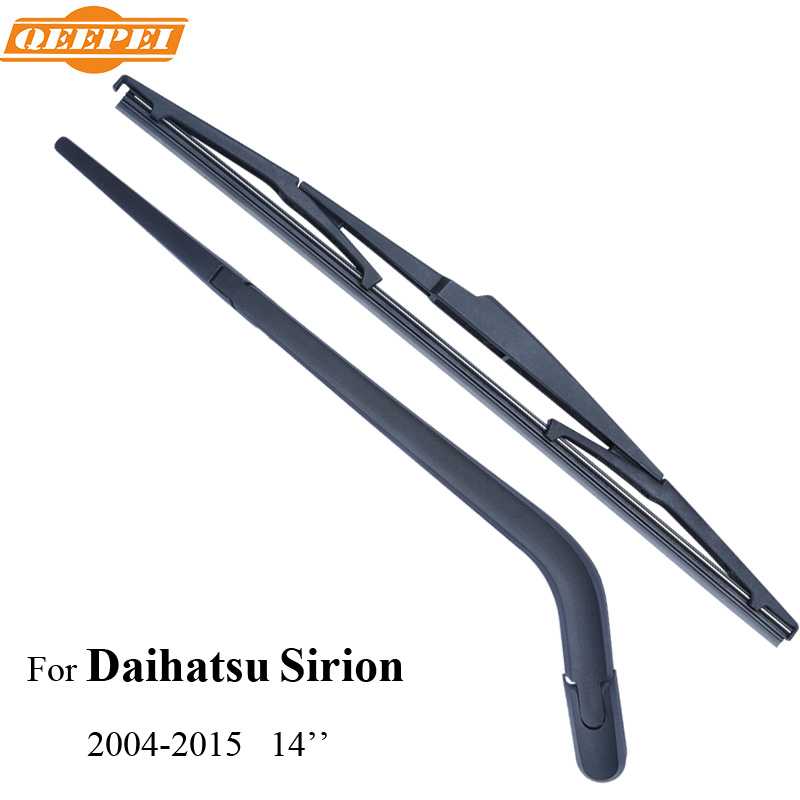QEEPEI Rear Wiper Blade & Arm For Daihatsu Sirion 5-door hatchback 2004-2015 14'' Car Accessories For Auto Wipers,RDH16-2A(China (Mainland))