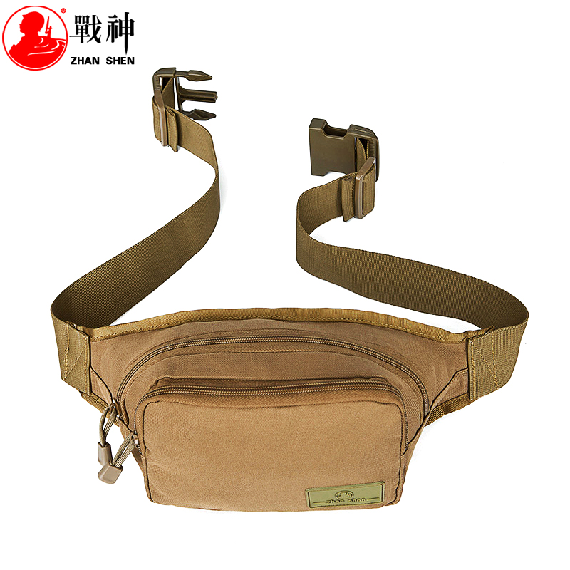 [God of War]Waist pack male floodwood canvas bag female outdoor travel casual bag chest pack bag small bag(22 x 9 x 11cm)(China (Mainland))