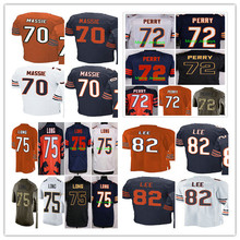 2016 #70 Bobby Massie,#72 William Perry,#75 Kyle Long,#82 Khari Lee men women youth kids Jerseys Blue White orange green M-4XL(China (Mainland))