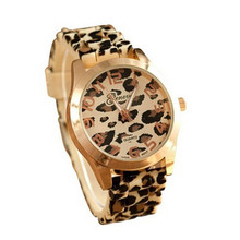 Superior Fashion Unisex Geneva Leopard Silicone Jelly Gel Quartz Analog Wrist Watch June10