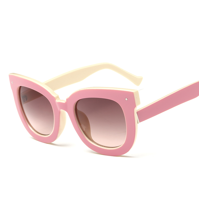 New Vintage Cat Eye Women Sunglasses Rivets Tinted Sun Lenses Spectacles Frames UV400 Girl Party Shades Pink Oculos De Sol Gafas(China (Mainland))