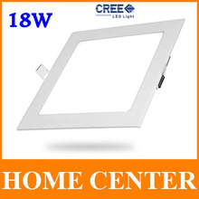 18W CREE LED Recessed Ceiling Led Panel Lights Bulb with driver Square free shipping with tracking number for dropship(China (Mainland))
