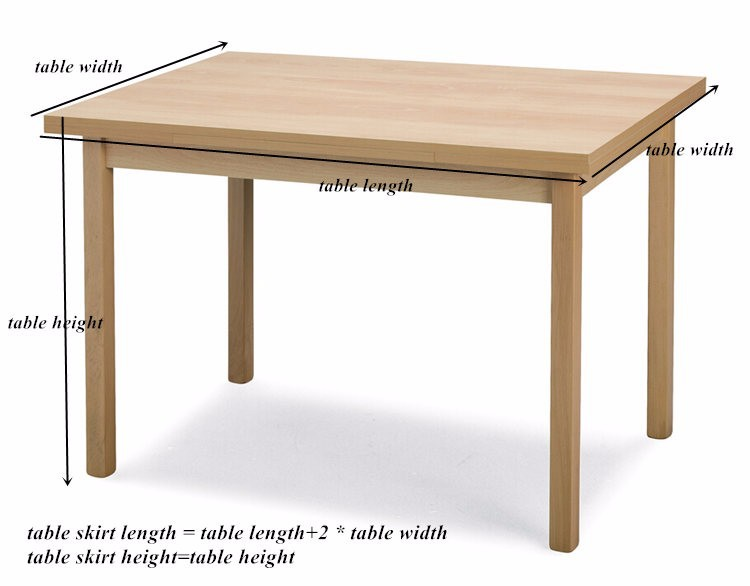 Buy white luxury table skirt with swag for Table 3m long