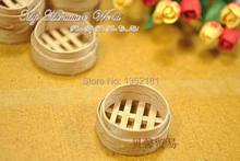 1:12 Cute MINI Dollhouse Miniature kitchen bamboo fooder steamer(China (Mainland))