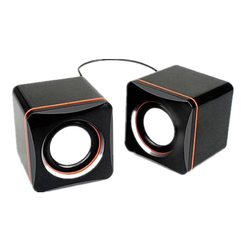 Box Subwoofer Speaker USB 2.0 Mini Small Hi-Fi Boxes PC/Phone/MAC/PSP/MP3