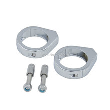 Motorcycle 41mm Chrome Turn Signal Relocation Kit Fork Mounts Clamps For Harley Davidson