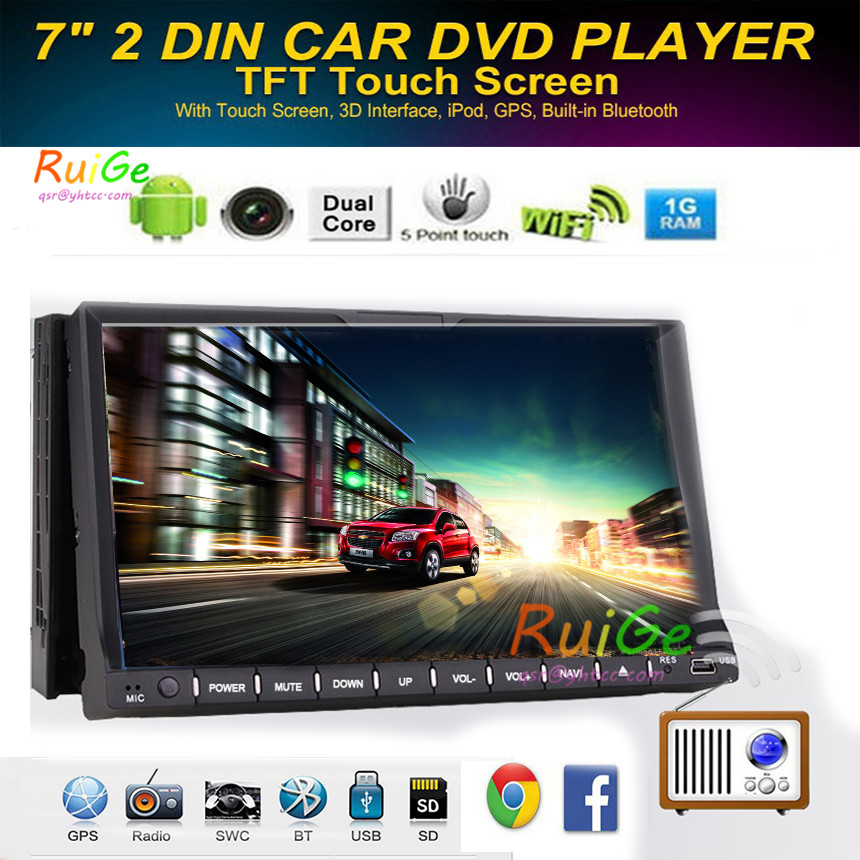 "HD 7""inch android 4.2.2 Car DVD Player Double Din Touch Screen Car Stereo GPS Navigation Car DVD Player Car PC Head Unit video()"