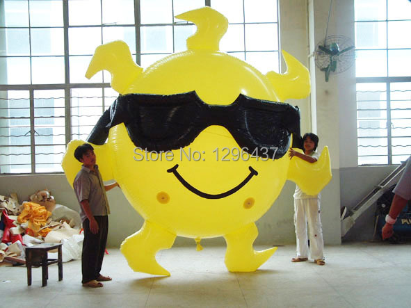3m Sun helium balloon and glasses for sale(China (Mainland))