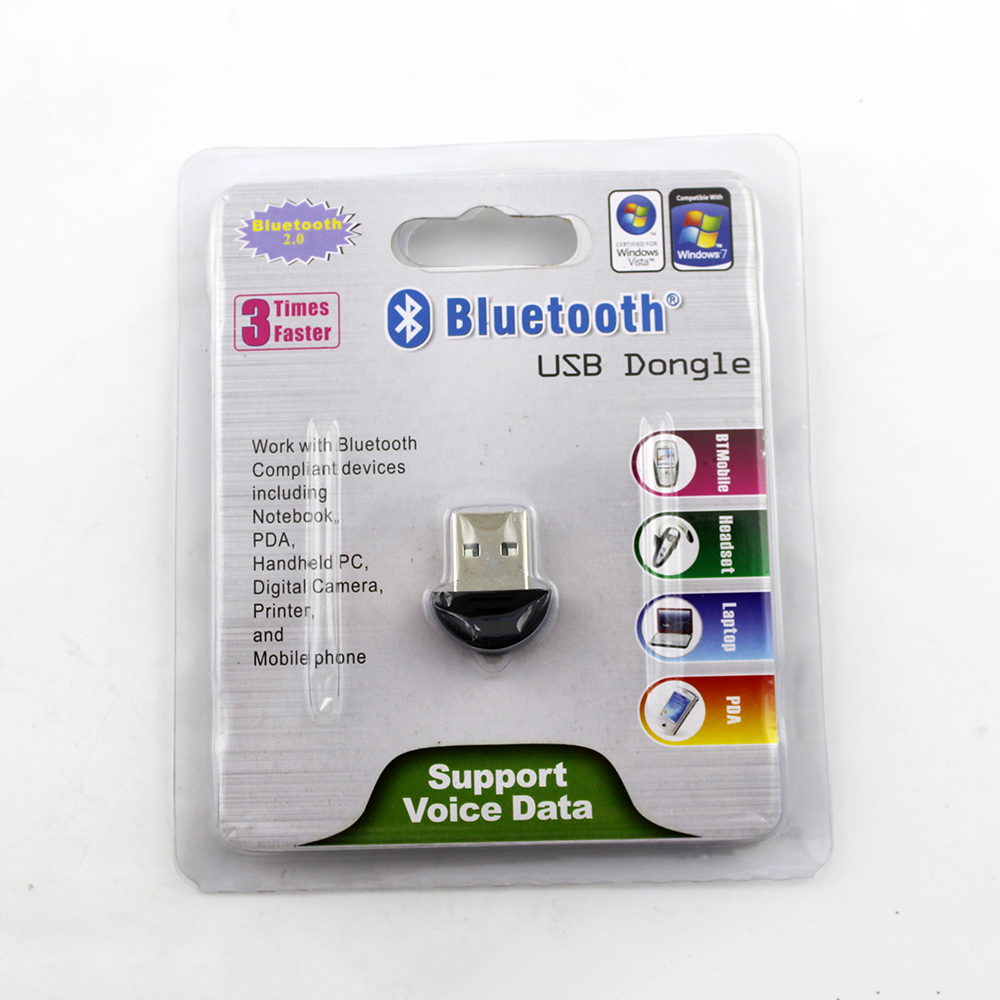 Smallest Bluetooth USB 2.0 Dongle Adapter Work With Computer PC Notebook Camera Printer(China (Mainland))