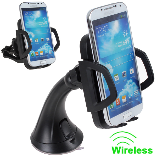 Qi Wireless Car Charger Dock Mount Bracket with Wide Charging Area for Nexus 5, Nexus 4,Nokia Lumia / HTC / Samsung / LG etc<br><br>Aliexpress
